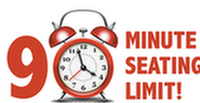 90 minuite seating limit icon