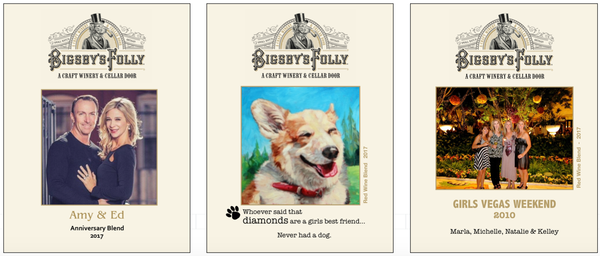 Example of three gift card labels